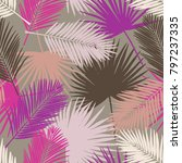 seamless floral pattern with... | Shutterstock .eps vector #797237335