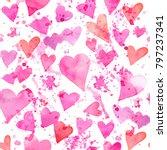 seamless watercolor pattern... | Shutterstock . vector #797237341