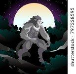 evil monster werewolf in the... | Shutterstock .eps vector #797238595