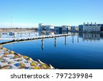 peaceful small boat harbor by... | Shutterstock . vector #797239984