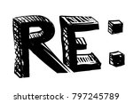 mail replay letters concept | Shutterstock . vector #797245789