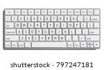 desktop keyboard vector. top... | Shutterstock .eps vector #797247181
