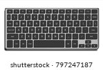 laptop keyboard vector. letters ... | Shutterstock .eps vector #797247187