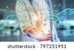 view of a weak link of a broken ... | Shutterstock . vector #797251951