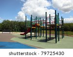 a colorful children playground... | Shutterstock . vector #79725430