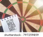 conceptual image of dartboard   ... | Shutterstock . vector #797259859