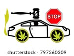 driving high is considered a... | Shutterstock . vector #797260309