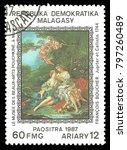 madagascar   circa 1987  stamp... | Shutterstock . vector #797260489