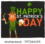 happy st. patrick's day.... | Shutterstock .eps vector #797264155