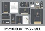 corporate identity branding... | Shutterstock .eps vector #797265355