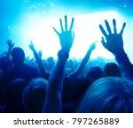 concert crowd at a rock concert | Shutterstock . vector #797265889