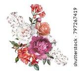 watercolor flowers. floral... | Shutterstock . vector #797267419