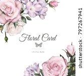 vintage card  watercolor... | Shutterstock . vector #797267941
