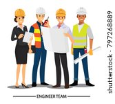 technician and builders and... | Shutterstock .eps vector #797268889