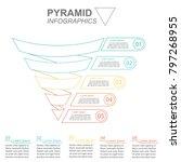 funnel spiral business pyramid... | Shutterstock .eps vector #797268955