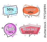 promo banner geometric vector... | Shutterstock .eps vector #797269894