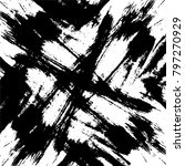 grunge black and white vector... | Shutterstock .eps vector #797270929