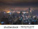 hong kong  land of skyscraper | Shutterstock . vector #797271277