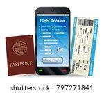 online flight booking and... | Shutterstock .eps vector #797271841