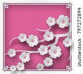illustration of branch of...   Shutterstock . vector #797272894