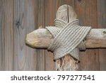 old wooden frame   Shutterstock . vector #797277541