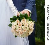 wedding bouquets with beautiful ... | Shutterstock . vector #797280451