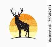 rustic wild animal vector ... | Shutterstock .eps vector #797282641