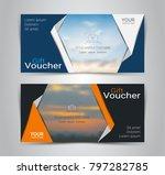 gift voucher card cover design... | Shutterstock .eps vector #797282785