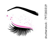 pink makeup for valentine's day.... | Shutterstock .eps vector #797283319