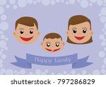 happy family father mother baby ... | Shutterstock .eps vector #797286829