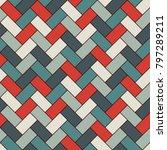 herringbone wallpaper. abstract ... | Shutterstock .eps vector #797289211