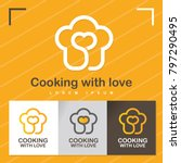 cooking with love. vector... | Shutterstock .eps vector #797290495