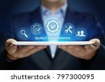 Small photo of Quality Assurance Service Guarantee Standard Internet Business Technology Concept.