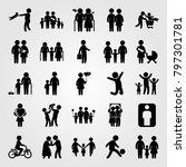 humans icon set vector. frame ... | Shutterstock .eps vector #797301781