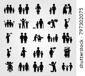 humans icon set vector.... | Shutterstock .eps vector #797302075