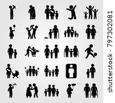 humans icon set vector. mother... | Shutterstock .eps vector #797302081