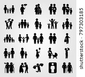 humans icon set vector. mother... | Shutterstock .eps vector #797303185