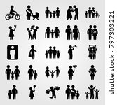 humans icon set vector. couple... | Shutterstock .eps vector #797303221