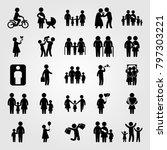 humans icon set vector. couple... | Shutterstock .eps vector #797303221