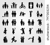 humans icon set vector. mother  ... | Shutterstock .eps vector #797303254