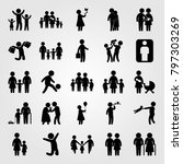 humans icon set vector.... | Shutterstock .eps vector #797303269