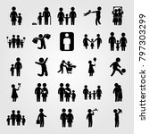 humans icon set vector. mom ... | Shutterstock .eps vector #797303299