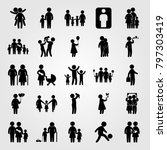humans icon set vector. man ... | Shutterstock .eps vector #797303419