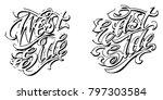 vector illustration calligraphy ...   Shutterstock .eps vector #797303584