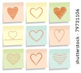 sticky notes with different... | Shutterstock .eps vector #79731106