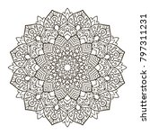 mandala. ethnic decorative... | Shutterstock .eps vector #797311231