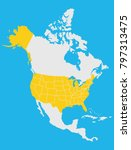 map of north america | Shutterstock .eps vector #797313475