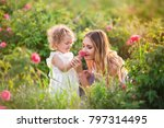 beautiful child girl with... | Shutterstock . vector #797314495
