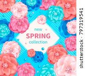 spring background with pink ... | Shutterstock . vector #797319541