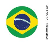 brazil national flag  brazil... | Shutterstock .eps vector #797321134